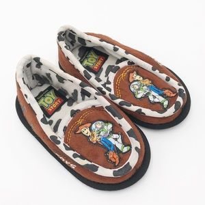 Disney Toy Story Buzz & Woody Brown Cow Slippers
